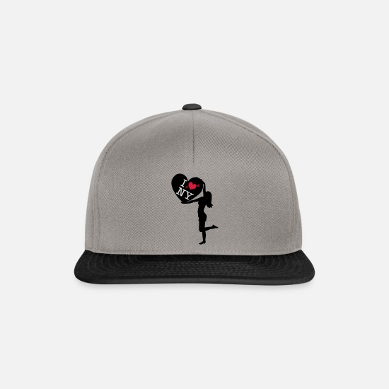 Love Caps & Hats - I love New York - Snapback Cap graphite/black
