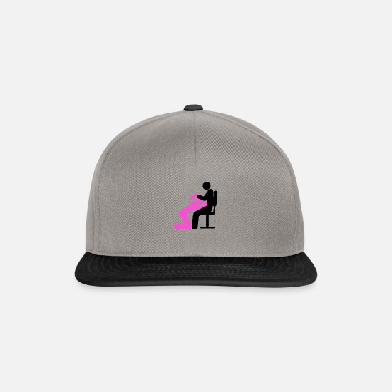 Position Caps & Hats - BJ in the office sex positions - Snapback Cap graphite/black