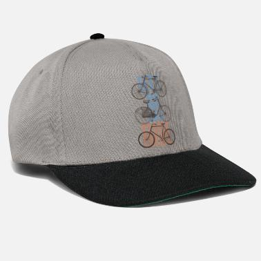 Old Vintage Bicycle Let's Go For A Ride -Retro Bikes - Snapback Cap