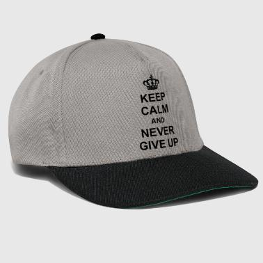 König krone koenig plakat keep calm and never give team - Snapback Cap