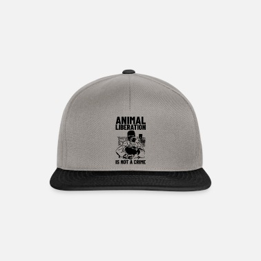 Animal Liberation Animal Liberation Is Not A Crime - Snapback Cap