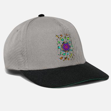 Esotericism Flower Of Life Neurographics 1 - Snapback Cap