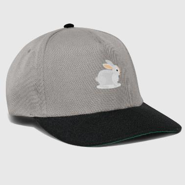 Mountain Hare Mountain hare sits in the snow - Snapback Cap