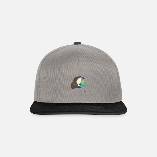 Gift Idea Caps & Hats - Mermaid girl child water mermaid gift - Snapback Cap graphite/black