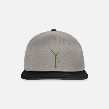Wind Turbine windmill windmill wind turbine windrad43 - Snapback Cap
