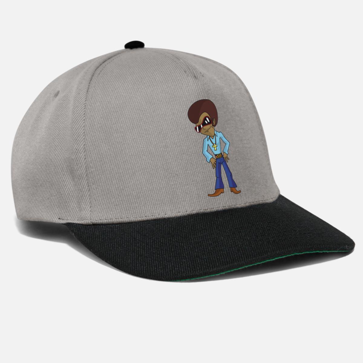 7045022b91 Funky personaje de dibujos animados de discoteca con afro y gafas de sol  Gorra snapback   Spreadshirt