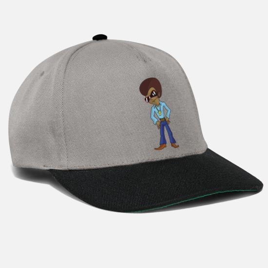 8c134f44f9 Funky personaje de dibujos animados de discoteca con afro y gafas de ...