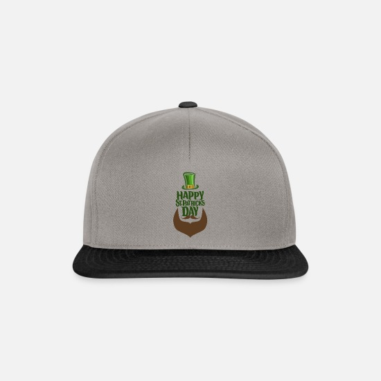 Ferie Kasketter & huer - Glad St. Patrick's Day Ireland Happiness Party - Snapback cap grafitgrå/sort