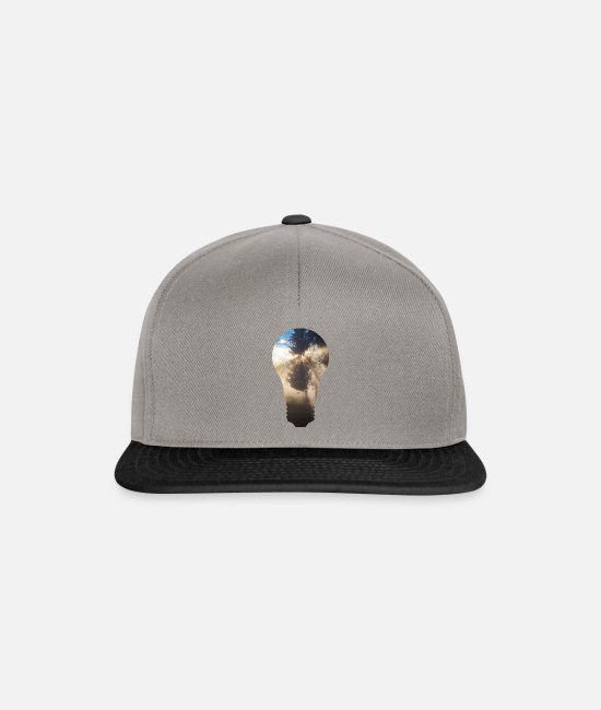Light Bulb Caps & Hats - Forest Bulb - Snapback Cap graphite/black
