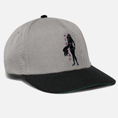 Topper pin-up girl met topper zwart - Snapback cap