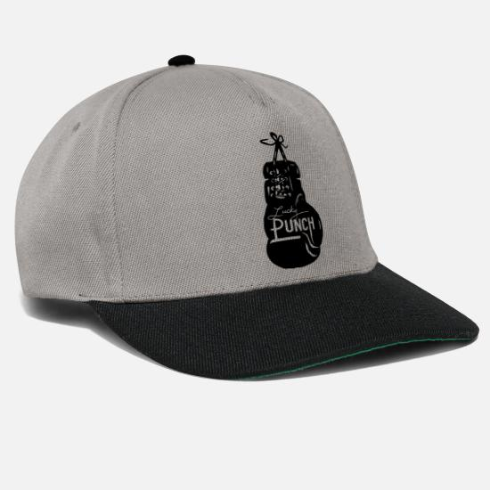 Knock Out Caps & Mützen - punch boxen - Snapback Cap Graphit/Schwarz