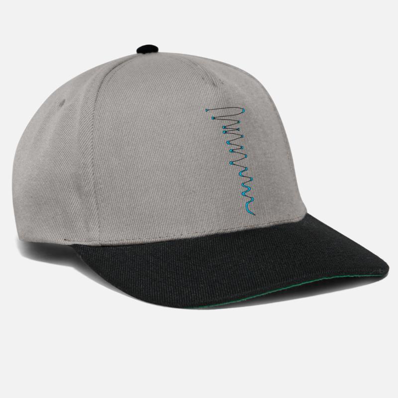 Wirbel Blau Snapback Cap Spreadshirt