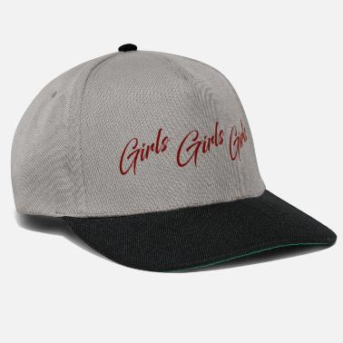Girl Girls Girls Girls quote - Snapback Cap