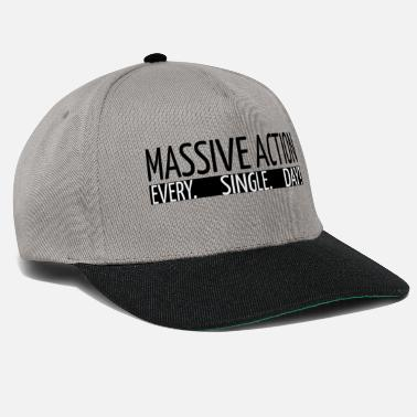 Drucker MASSIVE ACTION - Motivation - Geschenkidee - Snapback Cap