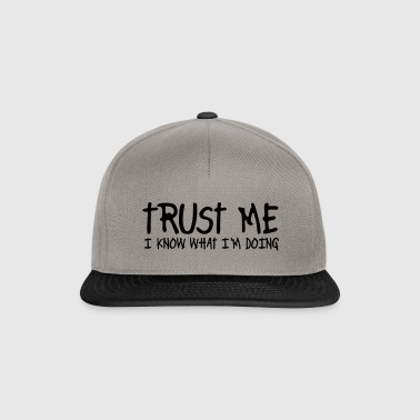 trust me i know what I am doing - Snapback cap