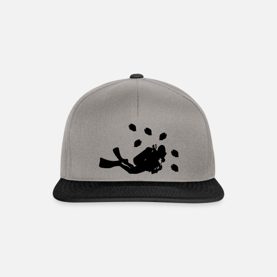 Shark Caps & Hats - diving - Snapback Cap graphite/black