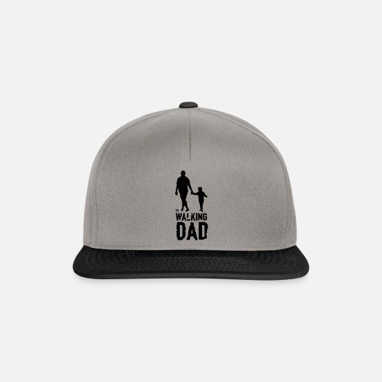 Son Caps & Hats - The Walking Dad - Snapback Cap graphite/black