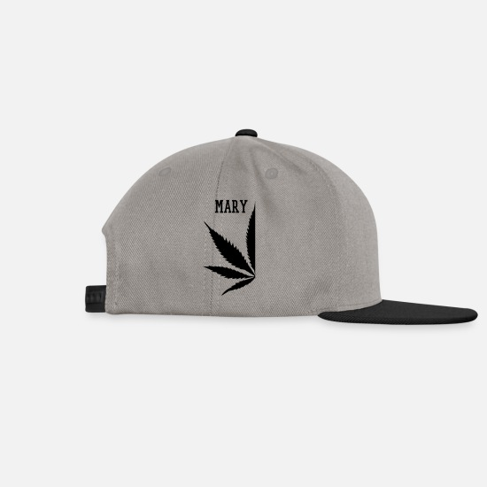 Rastafari Caps & Hats - MARY - Snapback Cap graphite/black
