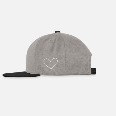 Dash dashed heart - Snapback Cap