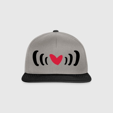 Heart in brackets 2-color design as a gift - Snapback Cap