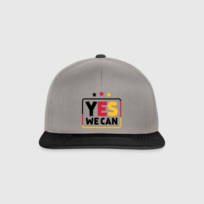 Yes we can Black Red Gold Germany soccer fan - Snapback Cap