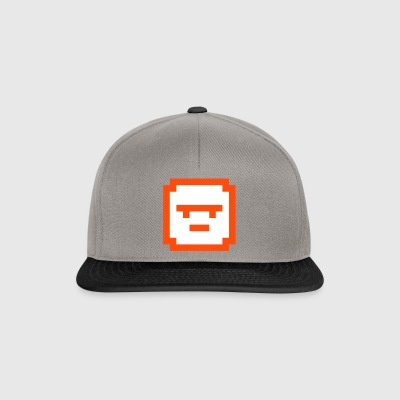 Pixelated Serious Face square shape game style - Snapback Cap