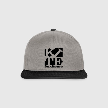 kite homage to robert Indiana boarding black - Snapback Cap