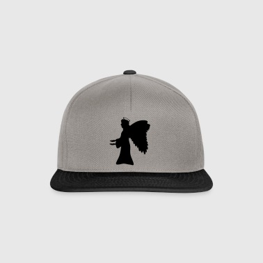 Angel silhouette gift wing halo - Snapback Cap