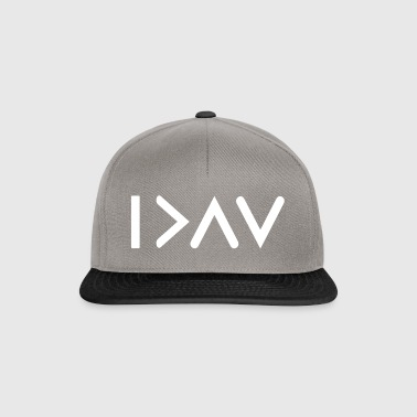 I'm greater than my highs and lows weiß - Snapback Cap