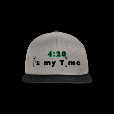 420 is my time grass cannabis gift idea - Snapback Cap