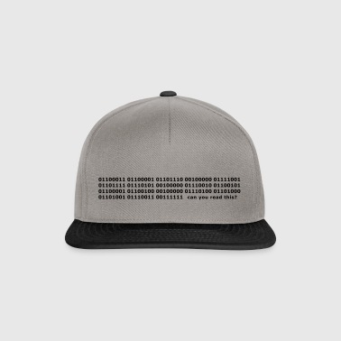 Binary Code Can you read this? - Snapback Cap