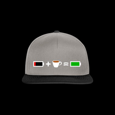 Coffee T-shirt for a full battery in everyday life - Snapback Cap