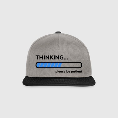 Thinking please be patient i think have patience - Snapback Cap