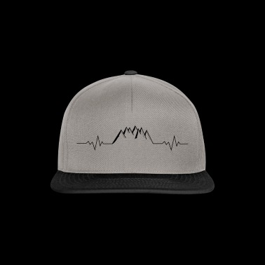 Mountains Mountains Alps heart rate pulse rate - Snapback Cap