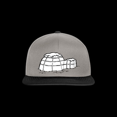 igloo iglu eskimo snow snow winter cold cold7 - Snapback Cap