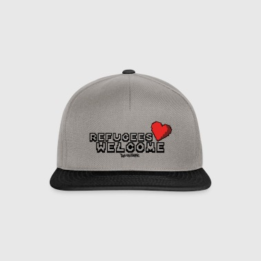 Refugees Welcome Pixel Design - Snapback Cap