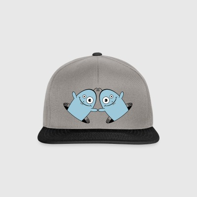 WILLY the friendly Worm 2 AllroundDesigns - Snapback Cap