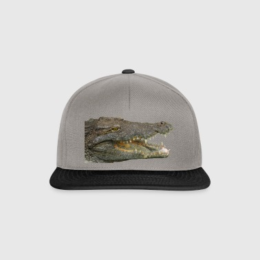 reptile crocodile alligator krokodil animal tier - Snapback Cap