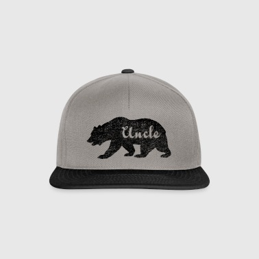 Uncle Bear Gifts idea for uncles. Camping Wildlife - Snapback Cap