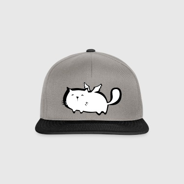 Chubby cute cat Angel with angel wings. Kids - Snapback Cap