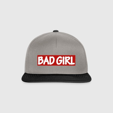 BAD GIRL - white / red - Snapback Cap