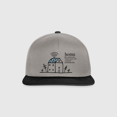 Home is where your wifi connects automatically - Snapback Cap