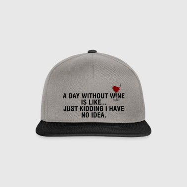 a day without wine - Snapback Cap