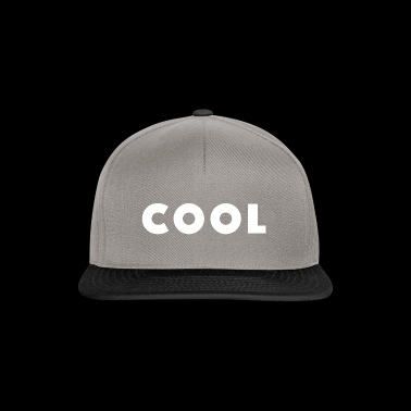 Design / Sayings cool white with world block font - Snapback Cap