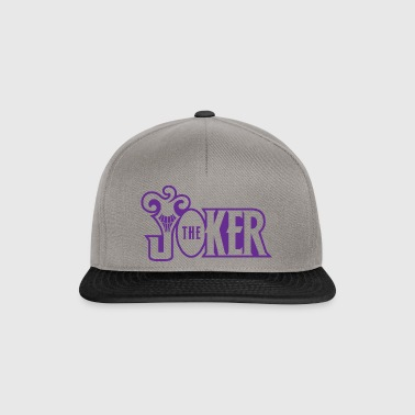 Batman The Joker Snapback Cap Typo - Snapback Cap