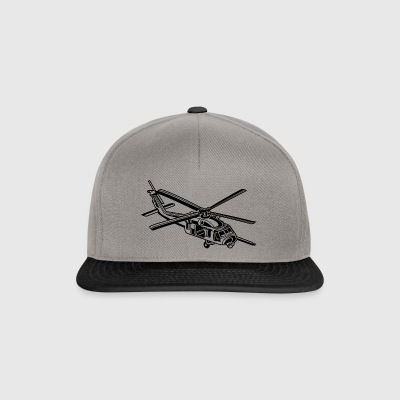 Helicopter / helicopter 01_black - Snapback Cap