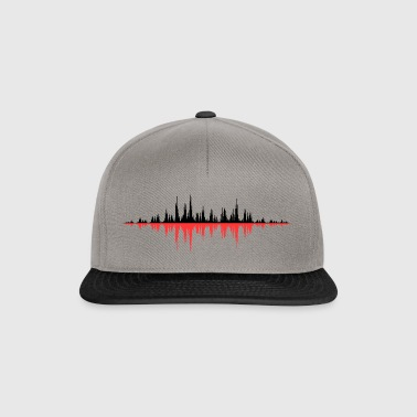 Red Sound Wave - Snapback Cap