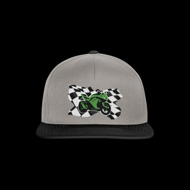 Motorcycle Racing Green Motorcycle Gift Idea - Snapback cap
