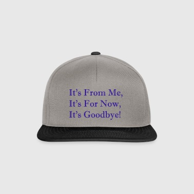 It's From Me, It's For Now, It's Goodbye! - Snapback Cap