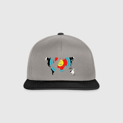 Tiro con l'arco World Map - Snapback Cap